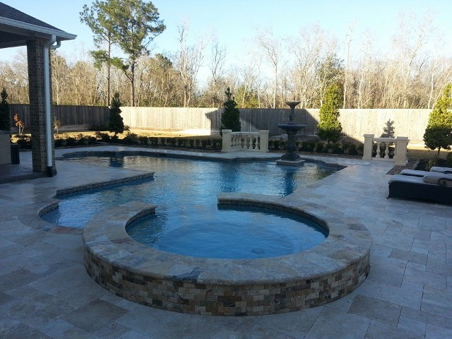 Beau League City Texas Belgard Pool Patio, Retaining Wall, Pergola, Drainage  Sustem