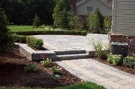 Alvin, Texas, Belgard Brick Paver Patio, Retaining Wall, Steps and Landscape Design