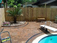 Houston Texas Pool Decking Belgard Cambridge Collection Brick Pavers Drainage Retaining Wall Walkway