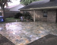 Texas City, Texas, Matted Flagstone Slate Patio