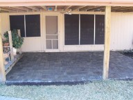 After Picture, League City, Texas, Belgard Interlocking Brick Pavers, Patio Cover
