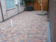 After, Houston, Texas, Interlocking Paver Patio, Drainage System and Fence