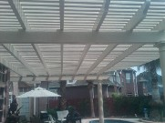 Clear Lake, Texas, Pergola, Interlocking Brick Paver Patio, Drainage System and Landscaping