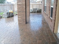 League City Texas, Belgard Interlocking Brick Pavers, Fire Pit, Retaining Wall and Drainage System