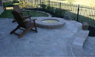 Sugar land, Texas, Fire Pit, Interlocking Brick Paver Patio, Retaining Wall, Landscaping, Outdoor Lighting, Drainage System