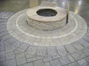 Houston, Texas, Fire Pit and Interlocking Patio