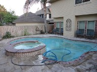 League City Texas Pool Decking Belgard Lafitt 3 Piece Drainage Retaining Wall Walkway Landscaping
