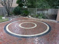 Clear Lake Houston Belgard Brick Pavers Outdoor Kitchen Storm Drain Channel Drain Retaining Wall