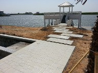 Galveston, Texas Shell Stone Pool Decking, Drainage Systems and Walkways